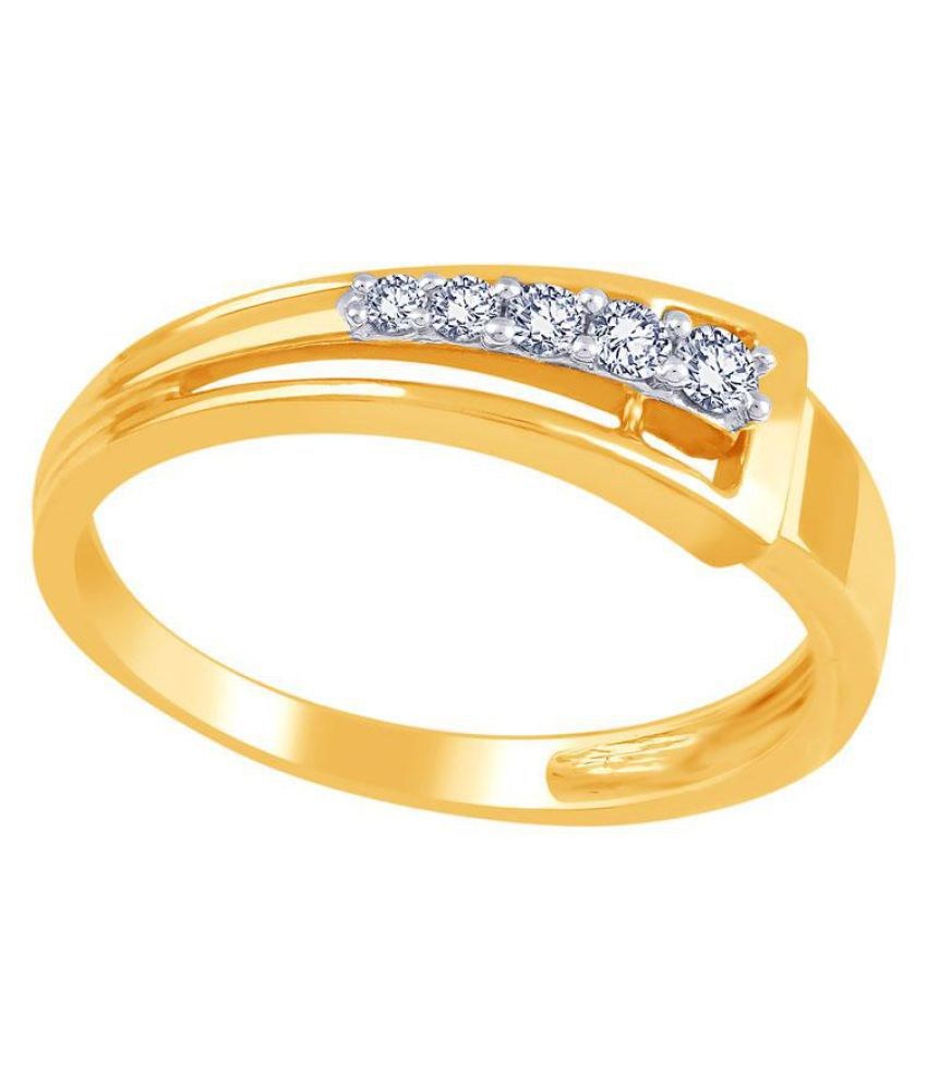 Sangini 18k Yellow Gold Diamond Ring