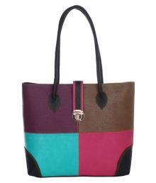 The Blue Pink Multi Pure Leather Shoulder Bag - 640023586922