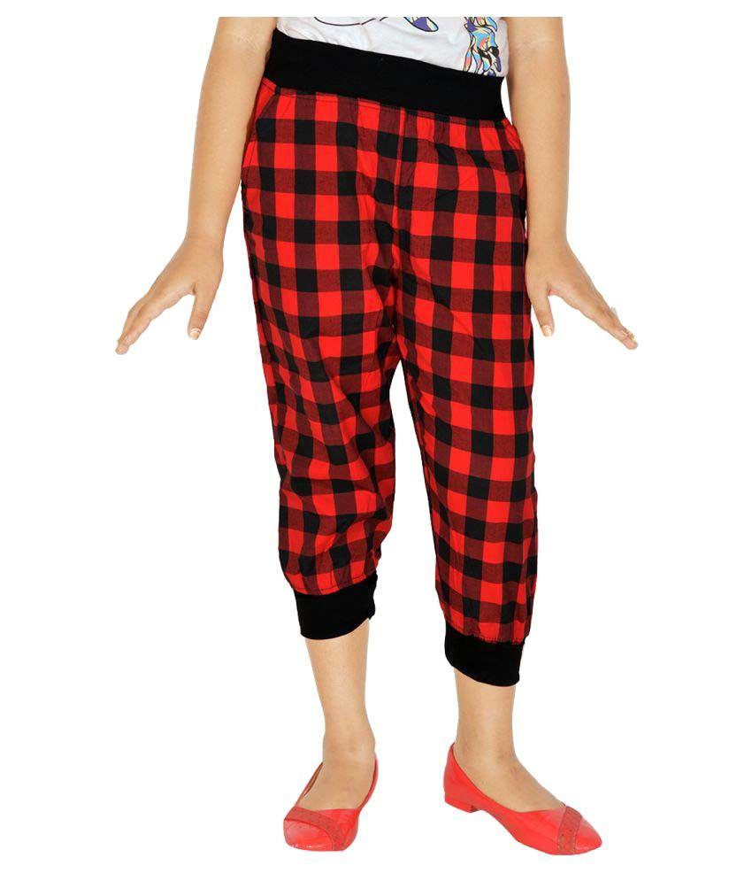 Gkidz Red Girls Capris