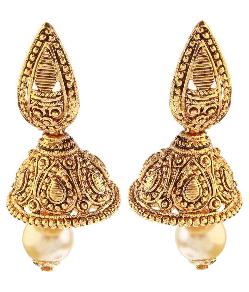 Kriaa Golden Jhumki