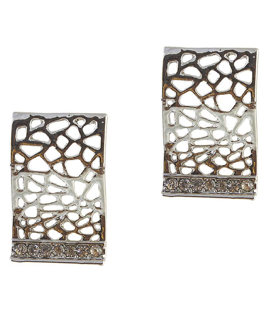 Kriaa Silver Stud Earrings