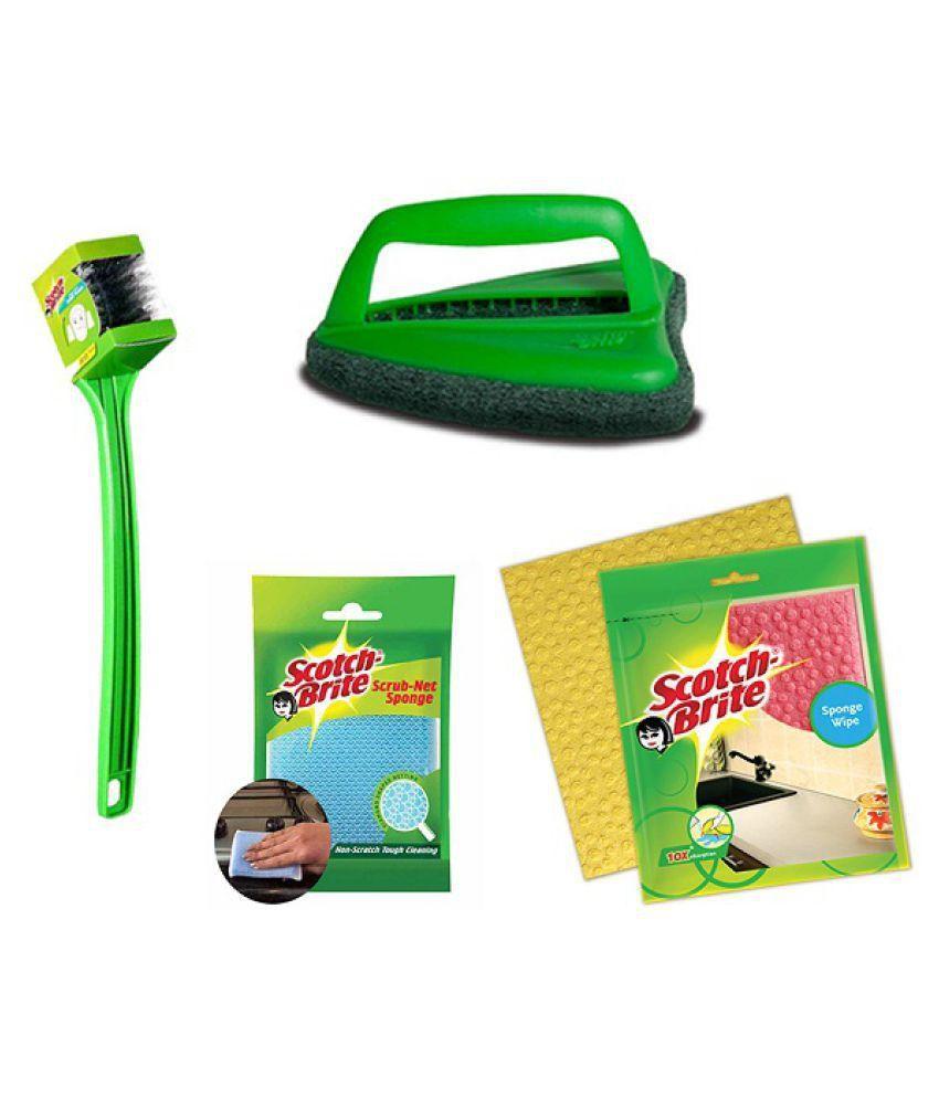 scotch brite double sided toilet brush jet scrubber brush sponge rh snapdeal com