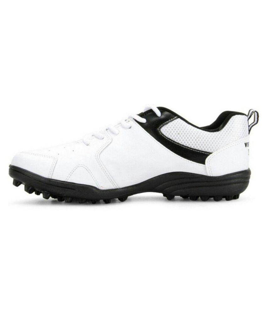 Vector X Blast White Cricket Shoes
