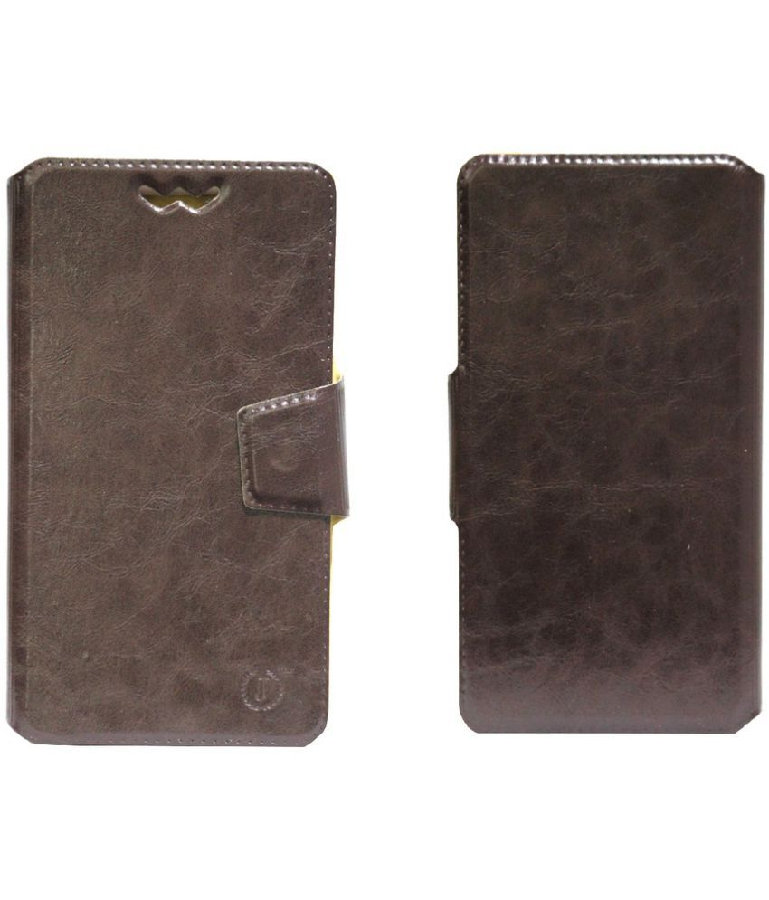 Elephone P7000 Flip Cover by Jojo - Brown