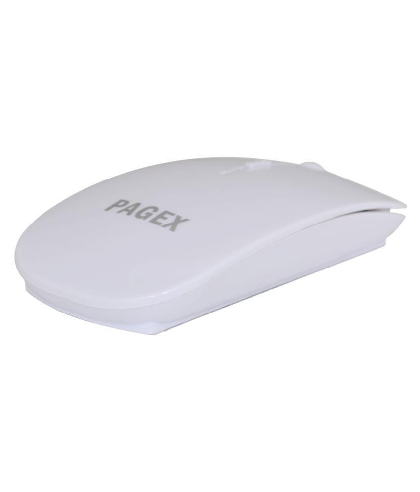 Pagex WH_1650009 White Wireless Mouse