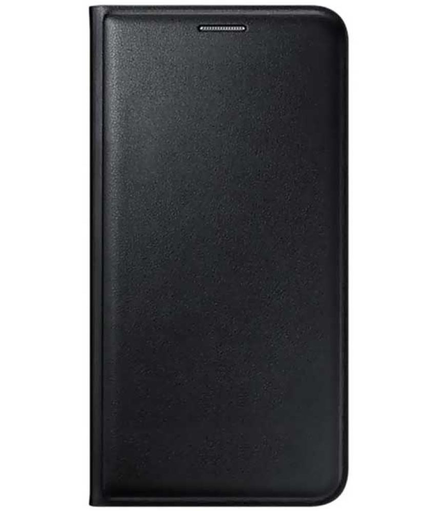 Samsung Galaxy E5 Flip Cover by EdgeMark - Black