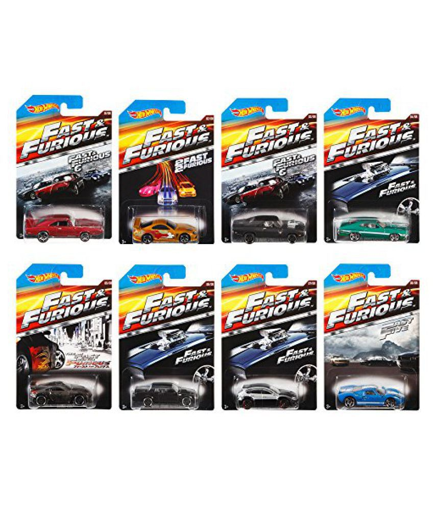 Hot Wheels Fast And Furious Hot Wheels 2015 Complete Set Of 8, Limited Edition, Amazon Exclusive 1:6