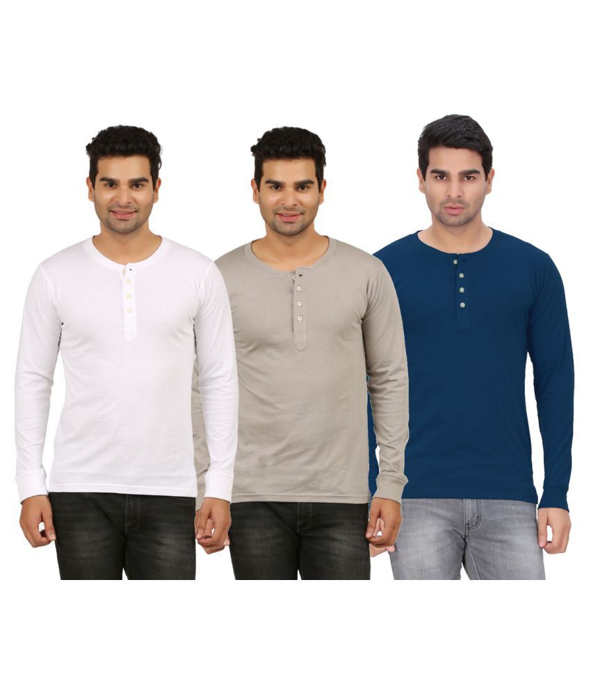 DNA Multi Henley T-Shirt Pack of 3
