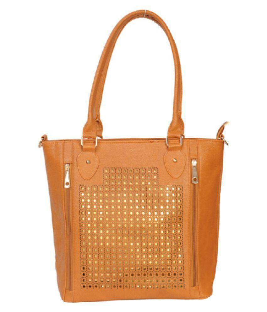 Unique Creation Orange Canvas Shoulder Bag
