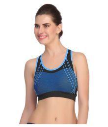 Gopalvilla Blue Nylon Sports Bras - 670921157481
