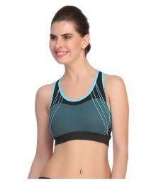 Gopalvilla Blue Nylon Sports Bras - 646745064430