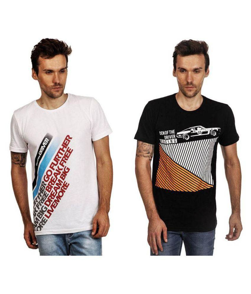 Den of the Driver Multi Round T-Shirt Pack of 2