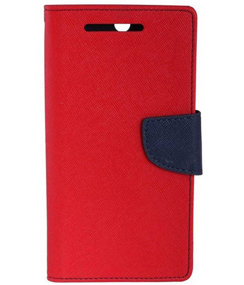 LYF Flame 1 Flip Cover by Case Cloud - Red