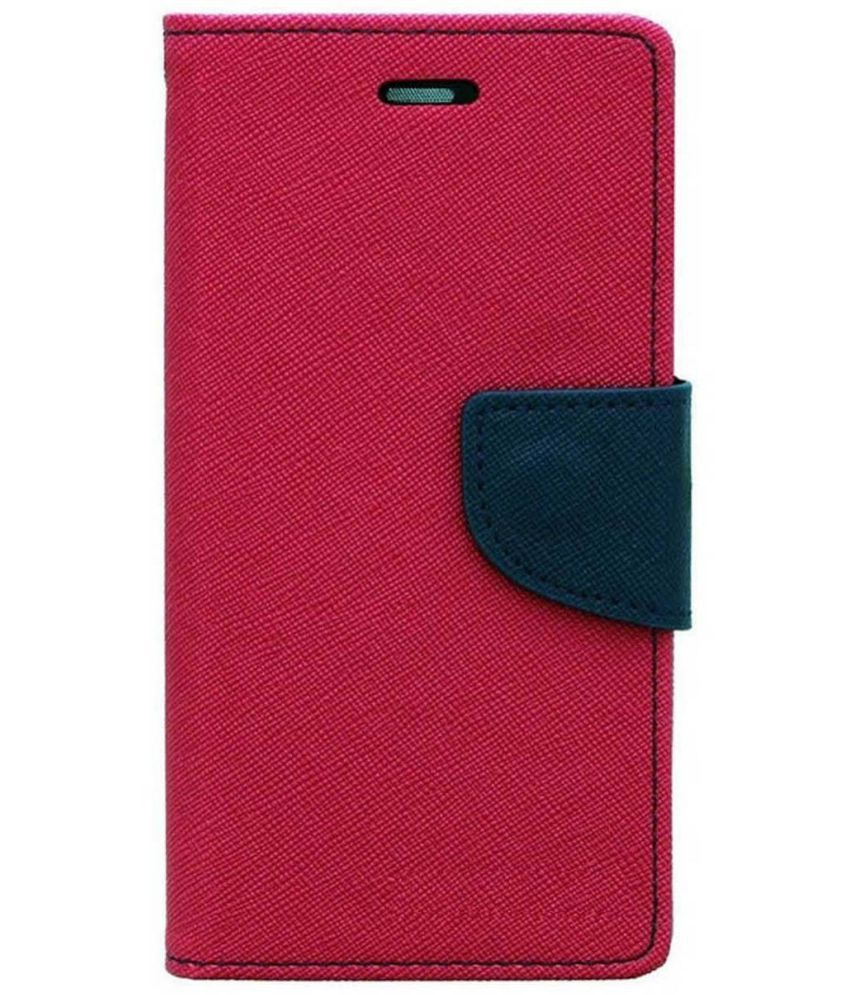 Samsung Galaxy Grand Prime Flip Cover by Cover Wala - Pink