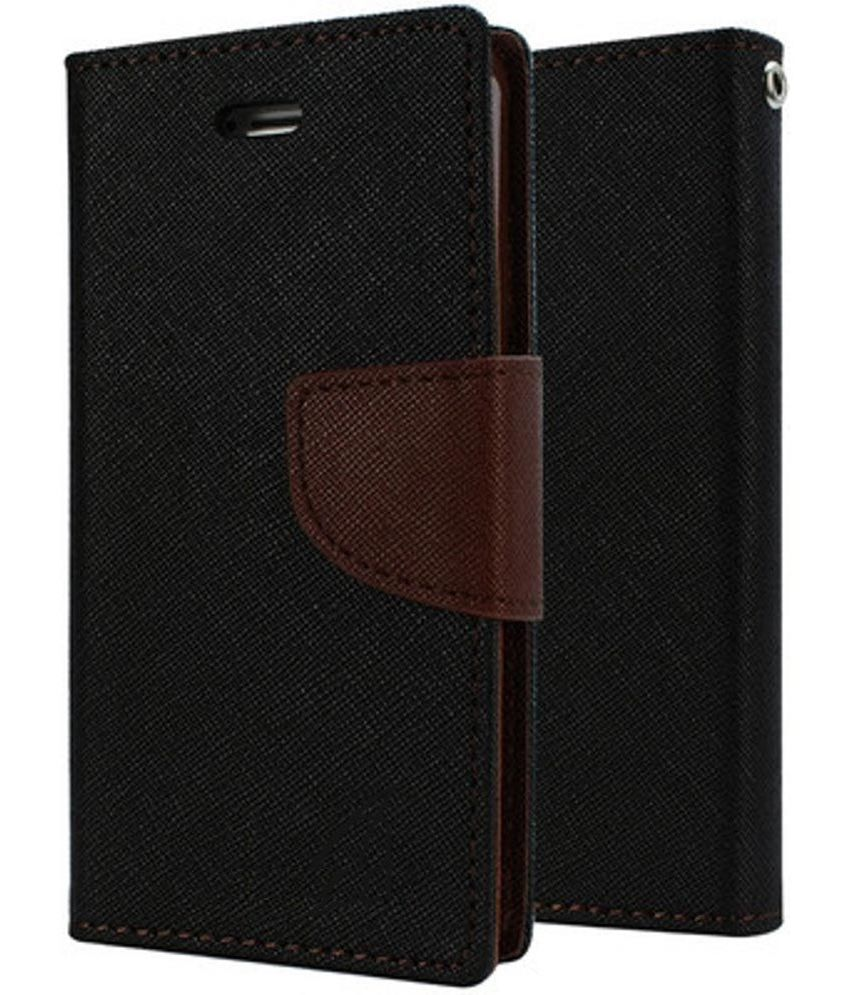Sony Xperia T2 Ultra Flip Cover by Cover Wala - Brown