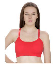 Bahucharaji Creation Red Cotton Lycra Sports Bras - 658394295121
