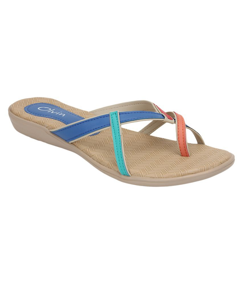 Olvin Multi Color Flats Sandal