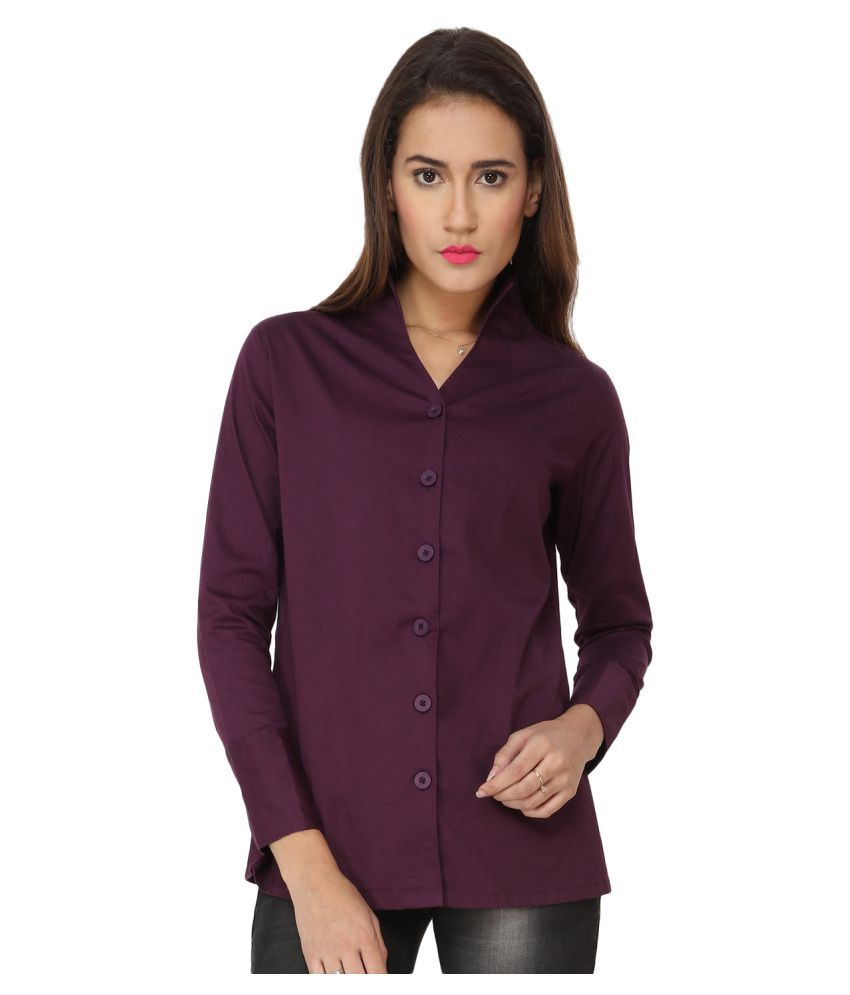 0f7d8895ec48b Soie Purple Satin Shirt