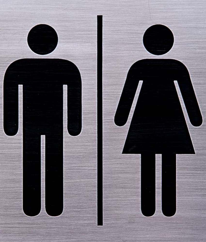 Shreyas Signages Male Female Toilet Logo Combine Decorative Plate ...