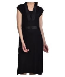 Enamor Black Cotton Robes