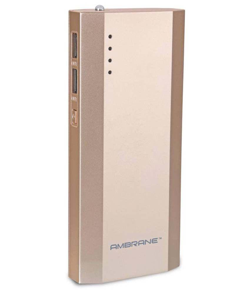 Ambrane P-1111 10000mAh Power Bank - Gold