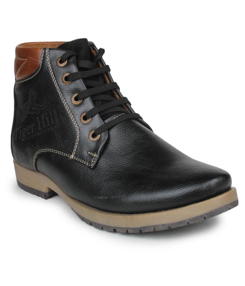 Pede Milan Black Casual Boot