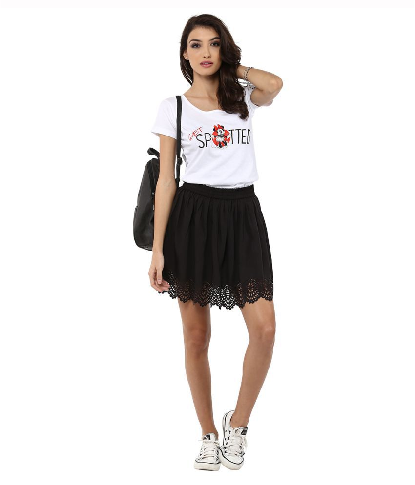 Black t shirt yepme -  Yepme White Cotton T Shirts
