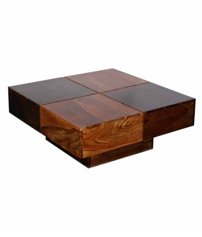 Ethnic India Art Tulip Coffee Table In Sheesham Wood