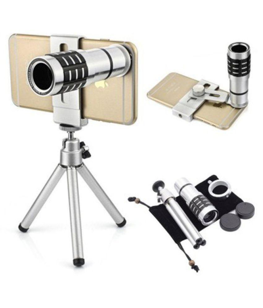 Technomart Universal 12x Mobile Zoom Lense Accessory Combo - Silver