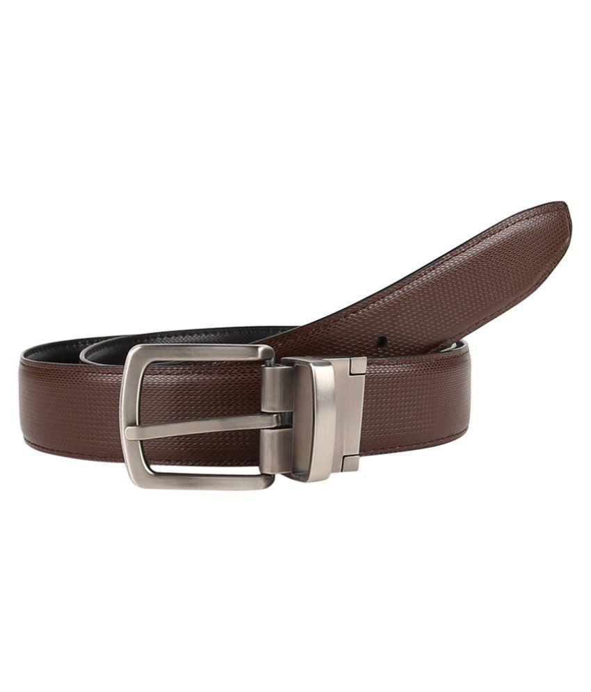 Firenzi Brown PU Formal Belts