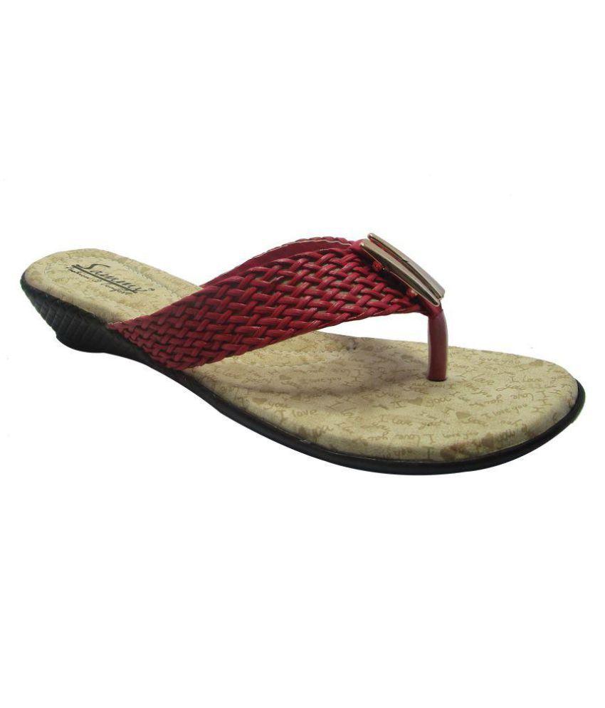 Sammy Red Wedges Heels