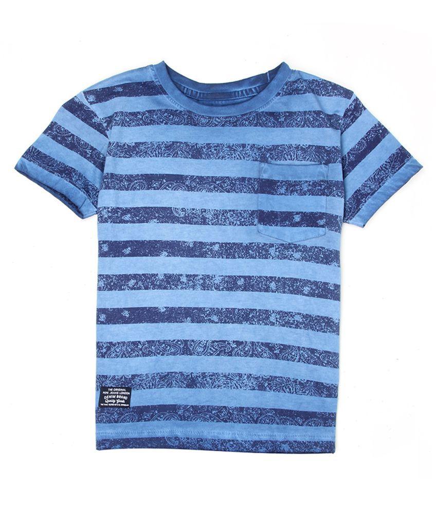 Pepe Blue Cotton T-Shirt