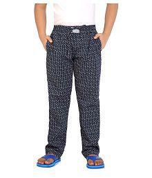 Kick Start Navy Cotton Dimond Print Pyjama