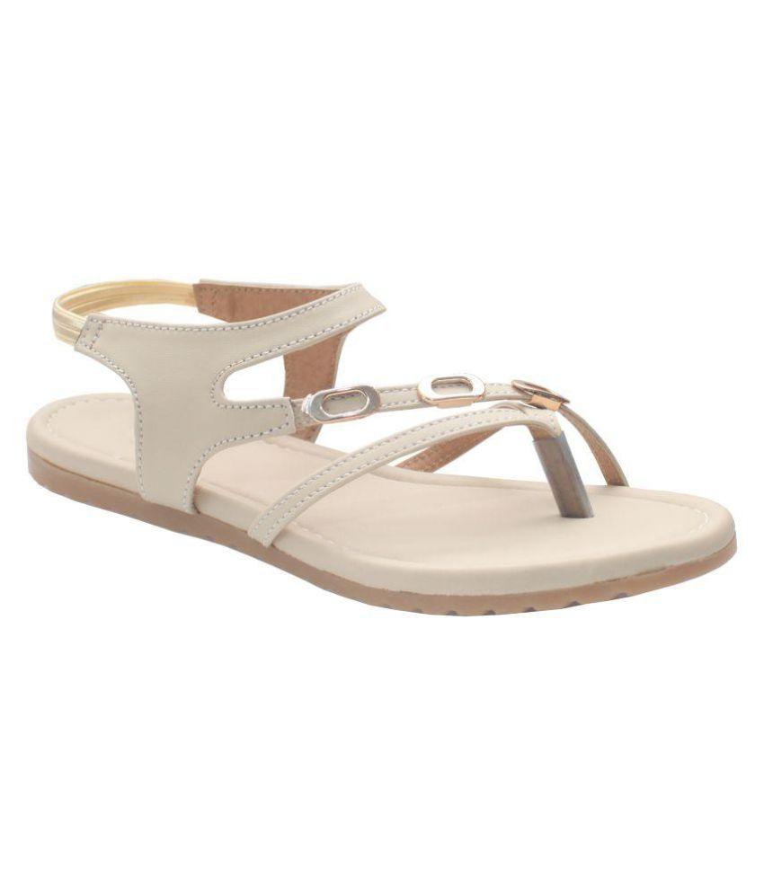 Art Sole Cream Sandals