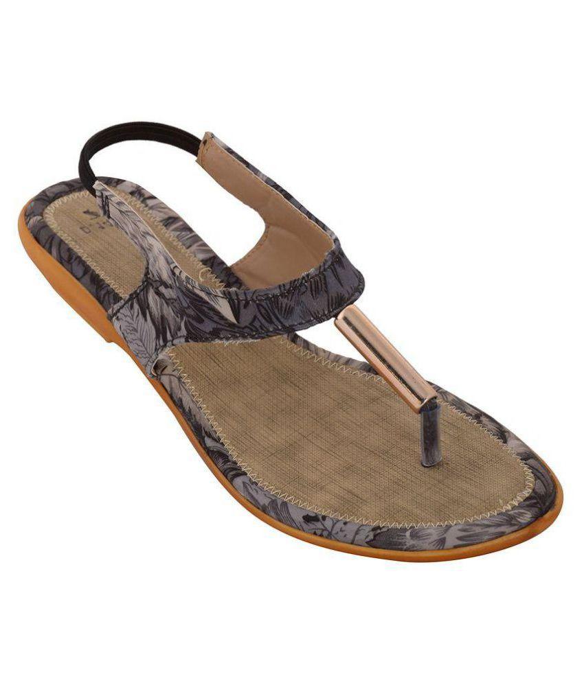 Wahi Footwear Multi Color Flats