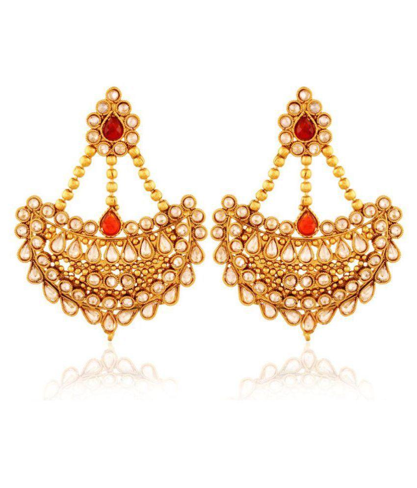 Accessher Golden Earrings