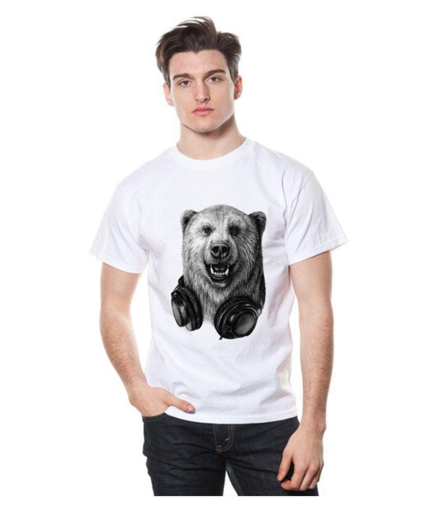 Fashion 360 White Round T-Shirt