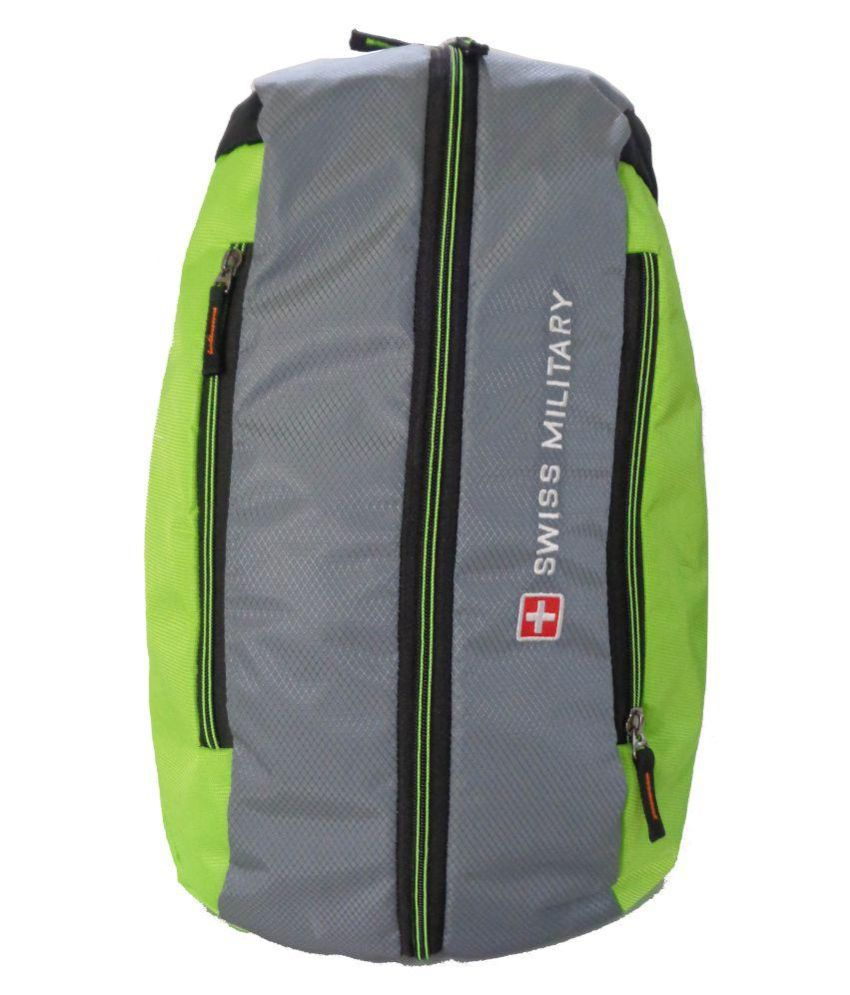 Swiss Military Backpack Cum Duffle Bag (Green   Grey) - Buy Swiss Military  Backpack Cum Duffle Bag (Green   Grey) Online at Low Price - Snapdeal 0f42c05de73