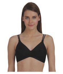 Fluid Black Cotton T-Shirt/ Seamless Bra