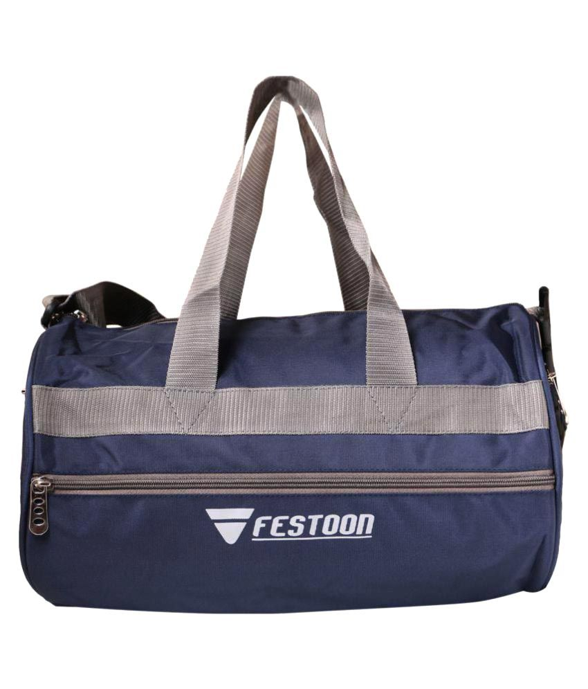 Festoon Navy Blue Gym Bag