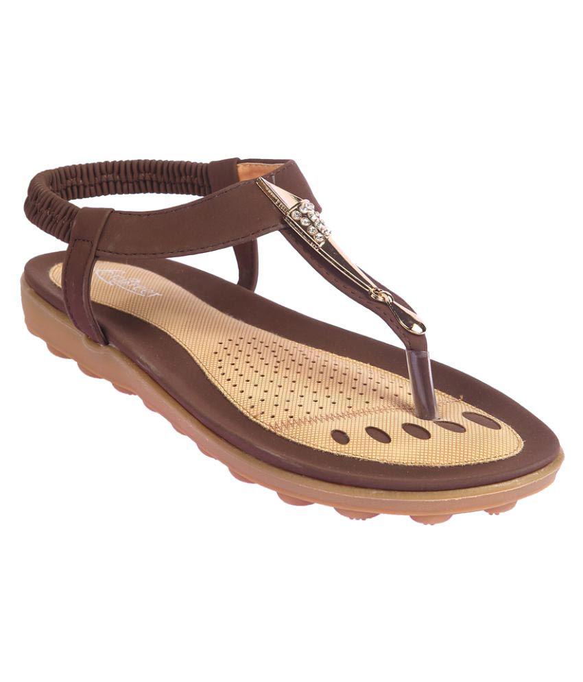 Lotus Feet Brown Flats