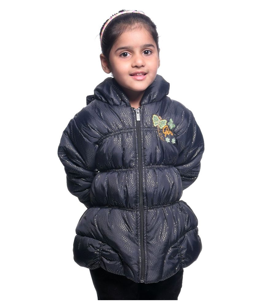 Come In Kids Black Polyester Jacket