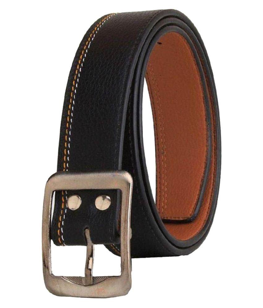 Oodi Black Faux Leather Casual Belts