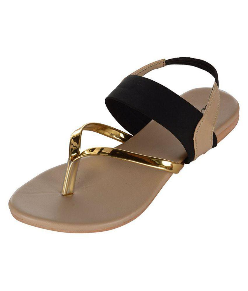Wahi Footwear Gold Flats