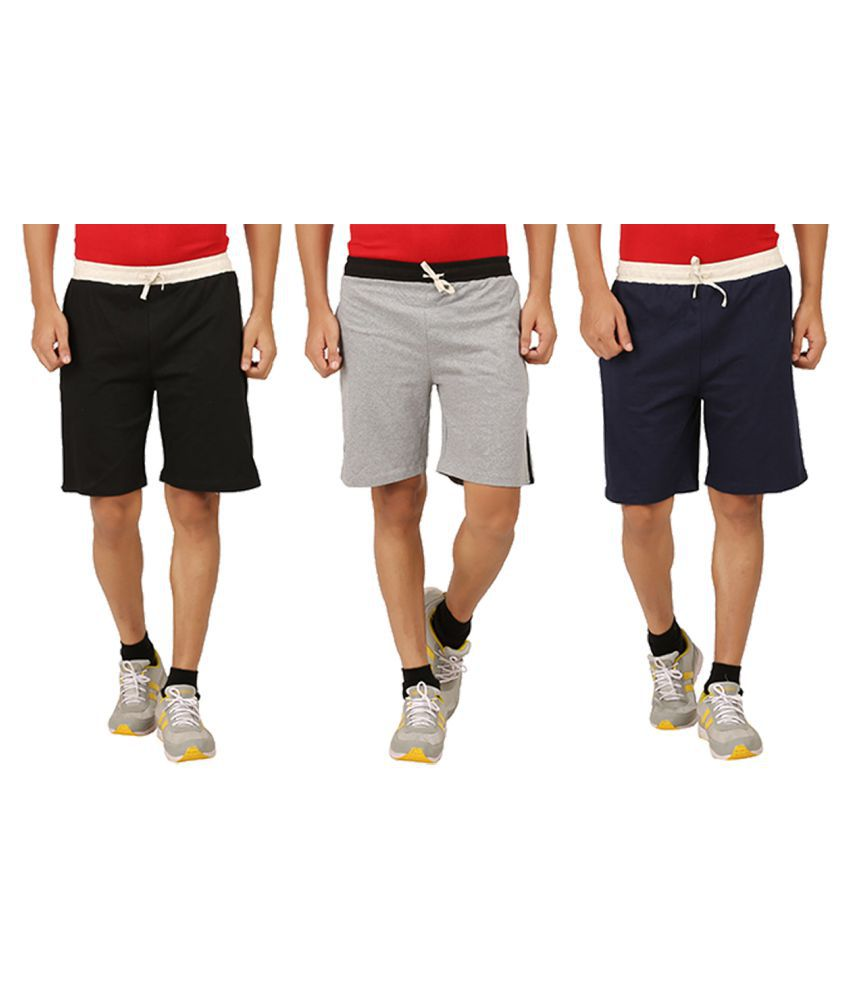 Rawpockets Multi Shorts Pack of 3