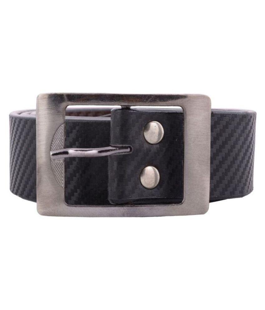 Toss Up Black PU Casual Belts