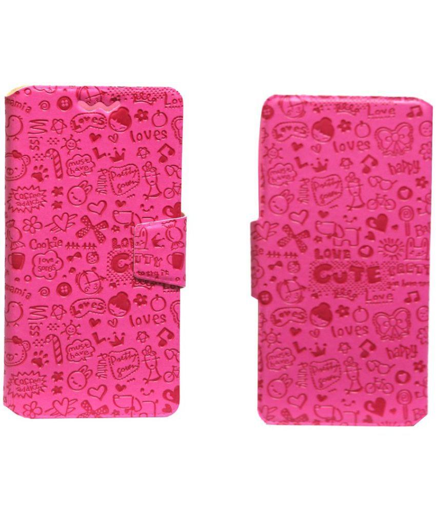 HTC Windows Phone 8X Flip Cover by Jojo - Pink