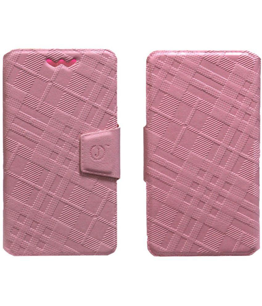 Lenovo A800 Flip Cover by Jojo - Pink