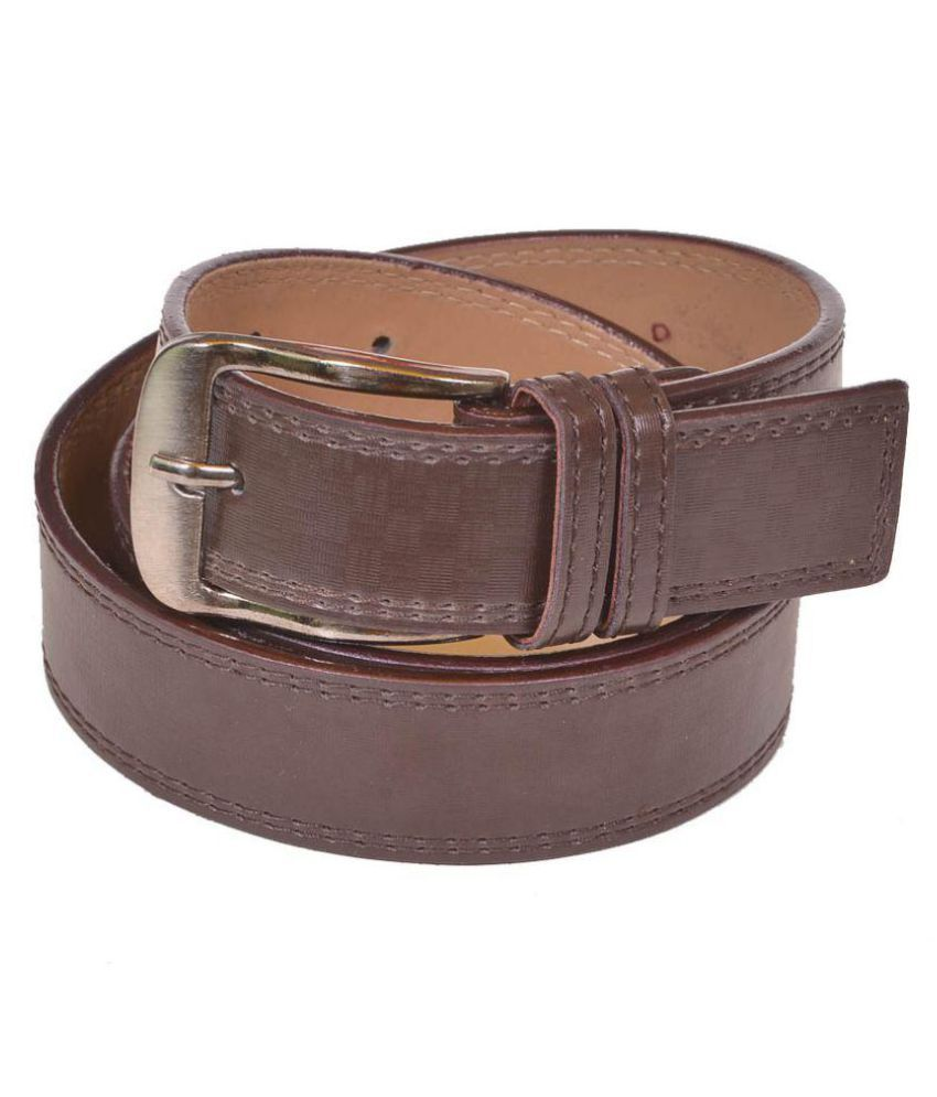 Master Club Brown PU Casual Belts