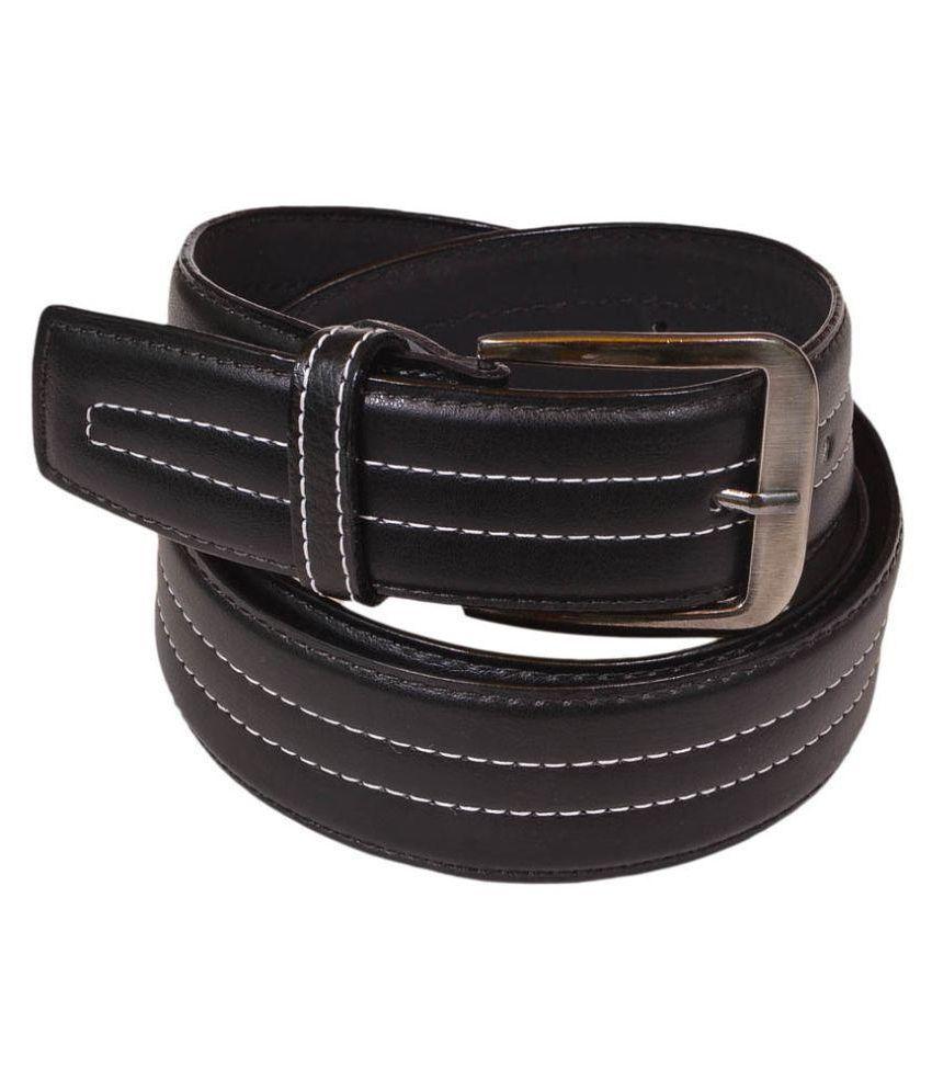 Master Club Black PU Casual Belts